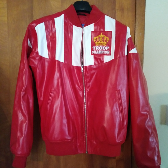 9b8d515a7 Troop Red Synthetic Leather Jacket